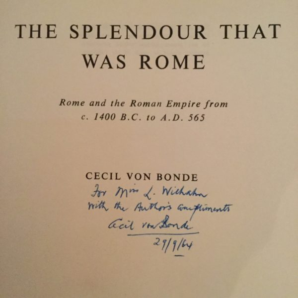 The_Splendour_that_was_Rome_Cecil_von_Bonde