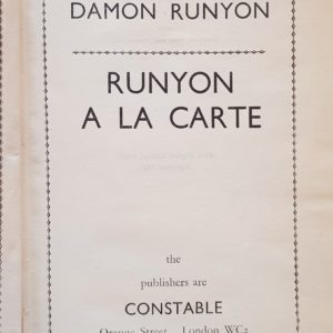 Runyon_A_La_Carte_Damon_Runyon
