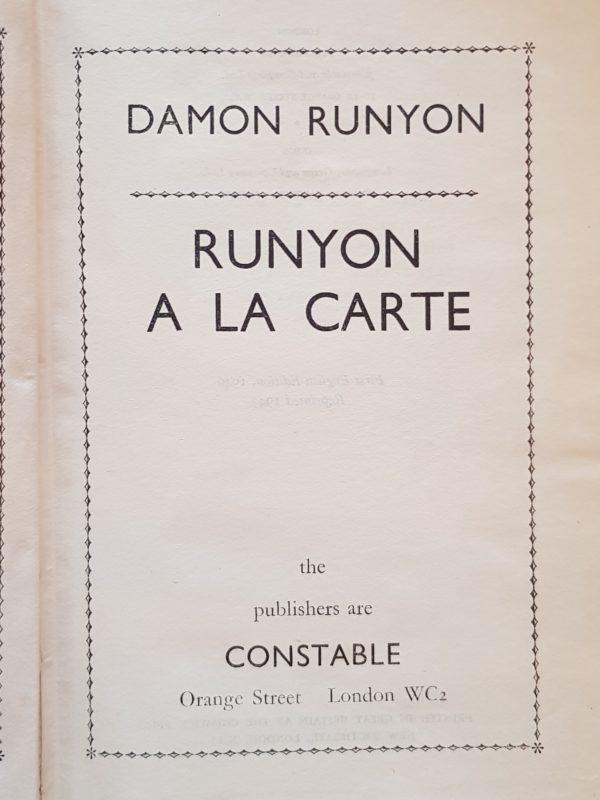 Runyon_A_La_Carte_Damon_Runyon