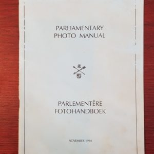 Parliamentary_Photo_Manual_Parlementêre_Fotohandboek_November_1994