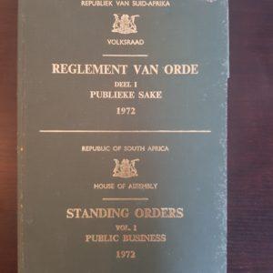 Reglement_van_Orde_Deel_I_Publieke_Sake_1972_Standing_Orders_Vol_1_Public_Business