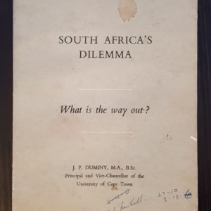 South Africa's Dilemma: What's the way out? - J.P. Duminy