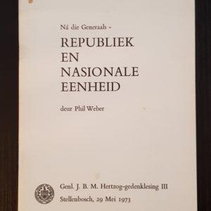 Republiek en Nasionale Eenheid - Phil Weber
